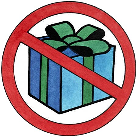NO gift wrapped