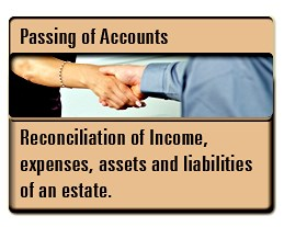 Passing of accounts