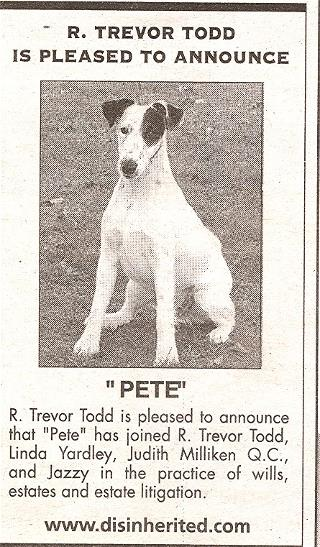 Pete the dog Ad