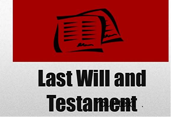 Testamentary document
