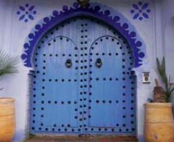 Ornate door in Chefchaoun