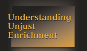 Unjust Enrichment in Common Law Relationships
