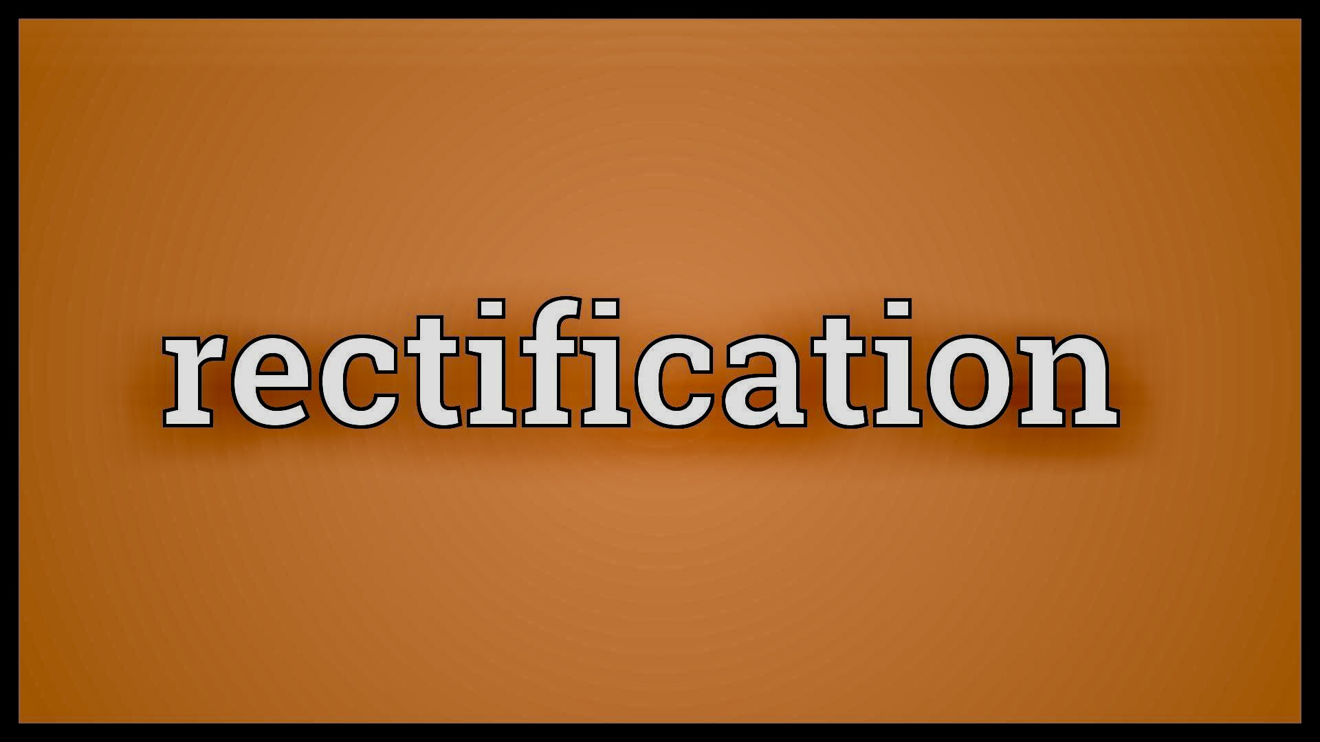 Rectification of a Document