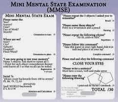 Accessing Mental Capacity: MMSE Mental Capacity Tests